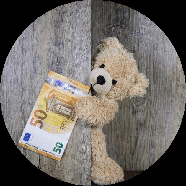 Service-Teddybär-mit-Geldschein