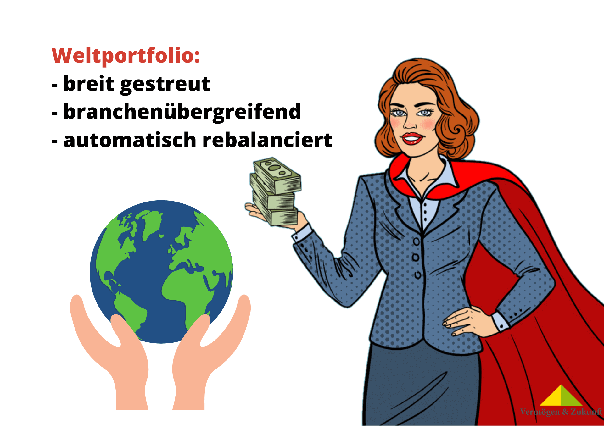 Superwoman mit Weltportfolio in Corona Börsenkrise