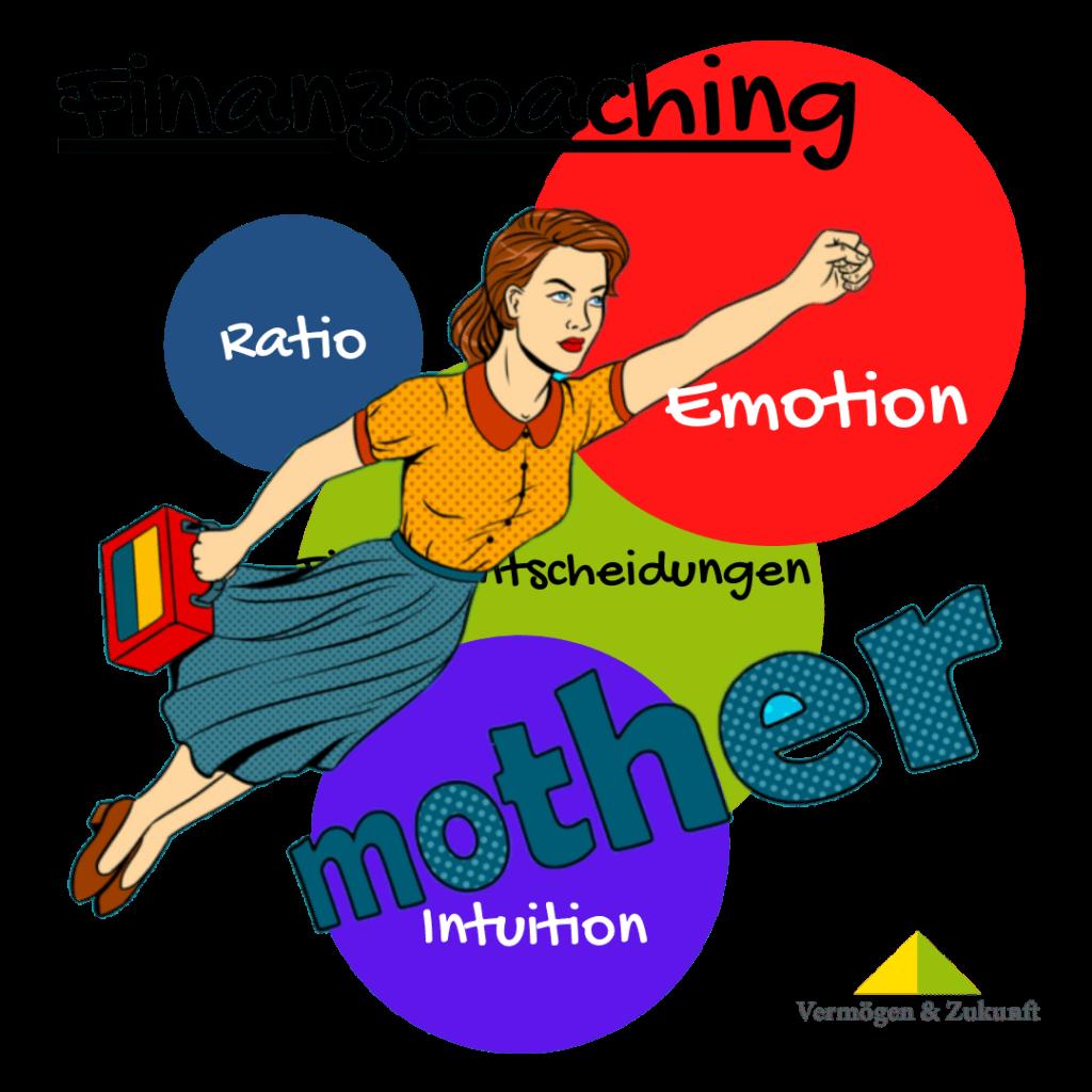 Finanzentscheidungen und Mutter in Aktion