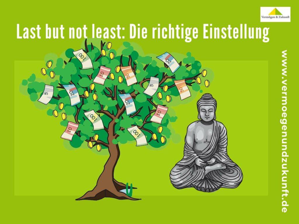 Budda mit Geldbaum - die richtige Einstellung
