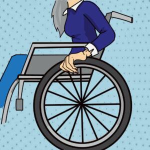 Kati-im-Rollstuhl-berufsunfähig